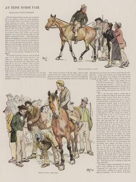 An Irish Horse Fair by Hugh Thomson