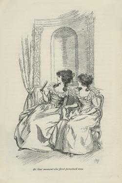 At that moment she first perceived him, 1896 by Hugh Thomson