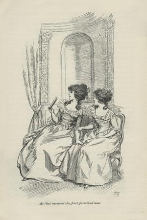 At that moment she first perceived him, 1896