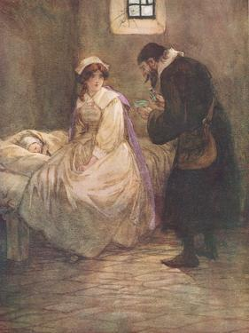 Hester Seated Herself on the Bed by Hugh Thomson