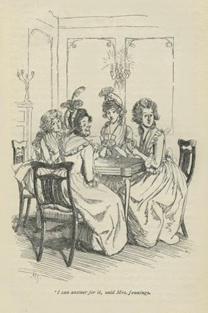 I can answer for it, said Mrs Jennings, 1896