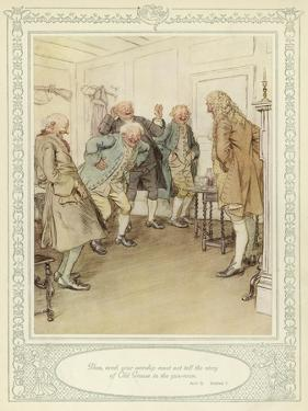 Illustration for Goldsmith's She Stoops to Conquer by Hugh Thomson