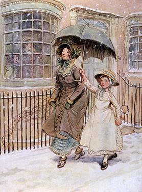 Lady and Her Maid, Street by Hugh Thomson