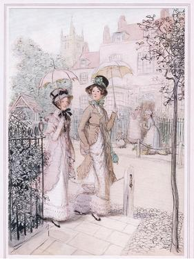 Miss Willoughby: We are known Everywhere Now, Susan, You and I, as the Old Maids of Quality Street by Hugh Thomson
