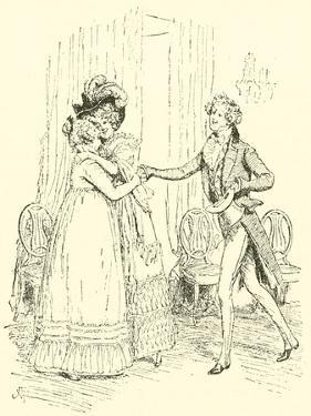 Mrs Bennet Welcomes Lydia and Her Husband by Hugh Thomson