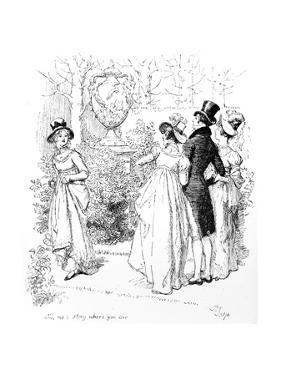 No, No, Stay Where You Are', Illustration from 'Pride and Prejudice' by Jane Austen, Edition… by Hugh Thomson