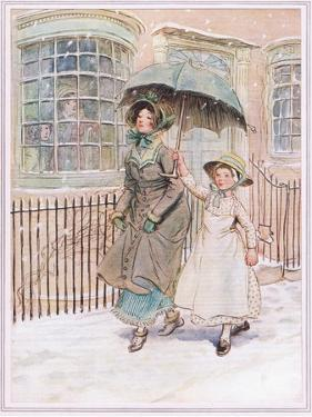 Now and Then Ladies Pass in their Pattens by Hugh Thomson
