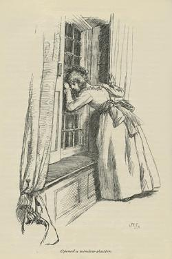 Opened a window-shutter, 1896 by Hugh Thomson