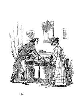 Scene from Jane Austen's Persuasion, 1897 by Hugh Thomson