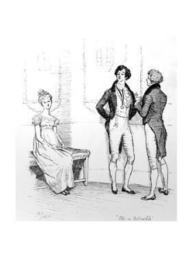 She Is Tolerable', Illustration from 'Pride and Prejudice' by Jane Austen, Edition Published in… by Hugh Thomson