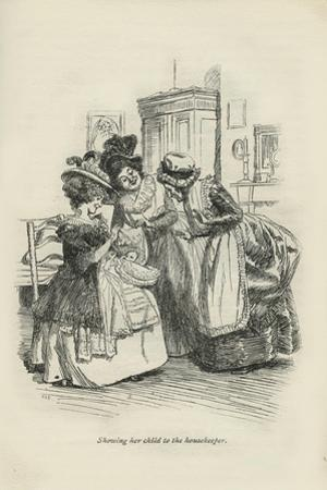 Showing her child to the housekeeper, 1896