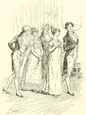The Netherfield Party Entering the Ballroom by Hugh Thomson