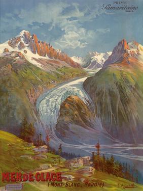 Mer de Glace (Sea of Ice) Glacier, Mont Blanc (Savoie) Alps, France, Prime Samaritaine Paris by Hugo D'Alesi
