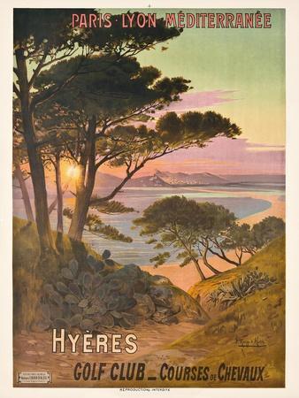 Poster Advertising Hyeres, France, C.1900