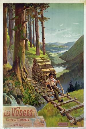 Poster Advertising Les Vosges, 1900