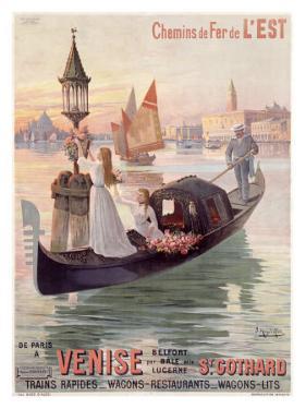 Venice, Italy, Gondola by Hugo D'Alesi