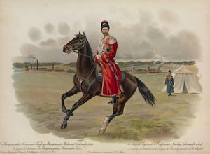Equestrian Portrait of Nicholas II of Russia, 1896 by Hugo Karlovich Bakmanson