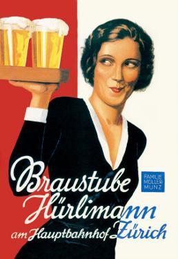 Braustube Hurlimann Hauptbahnhof by Hugo Laubi