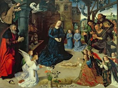 Christ Child Adored by Angels, Central Panel of the Portinari Altarpiece, c.1479