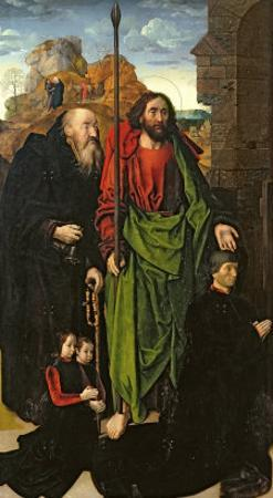 Portinari Altarpiece, St. Thomas and St. Anthony with Tommaso Portinari and Two Sons, c.1479