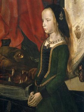 The Holy Margareta. Maria Magdalena with Maria Portinari and her daughter, 1476-78 by Hugo van der Goes
