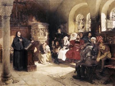 Martin Luther Preaches in Wartburg
