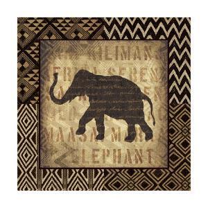 African Wild Elephant Border by Hugo Wild