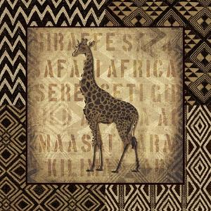 African Wild Giraffe Border by Hugo Wild