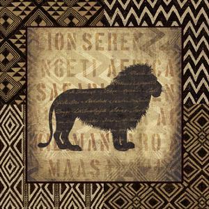 African Wild Lion Border by Hugo Wild