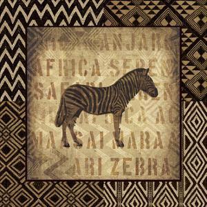 African Wild Zebra Border by Hugo Wild