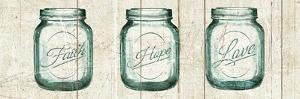 Flea Market Mason Jars Panel I V.2 by Hugo Wild