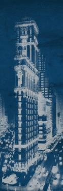 Times Square Postcard Blueprint Panel by Hugo Wild