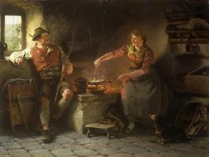In the Kitchen, 1901 by Hugo Wilhelm Kauffman