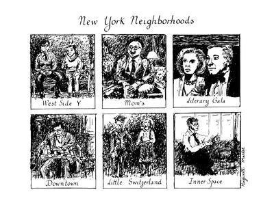 New York Neighborhoods - New Yorker Cartoon