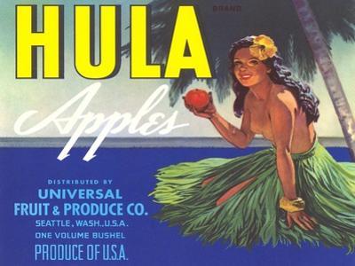 Hula Girl Label