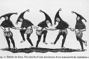 Dance of the Fools by Hulton Archive