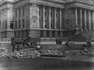 Digging up Road by Hulton Archive