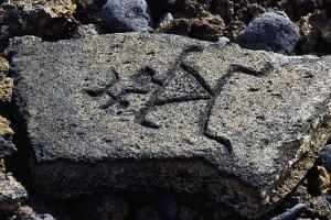 Human Figures, Stone Engraving, Puako Petroglyph Archaeological District, Hawaii, United States