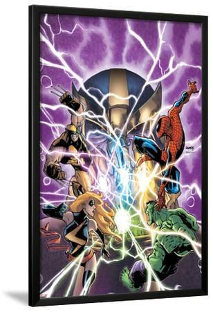 Avengers & The Infinity Gauntlet No.1 Cover: Ms. Marvel, Hulk, Wolverine, Spider-Man, and Thanos by Humberto Ramos