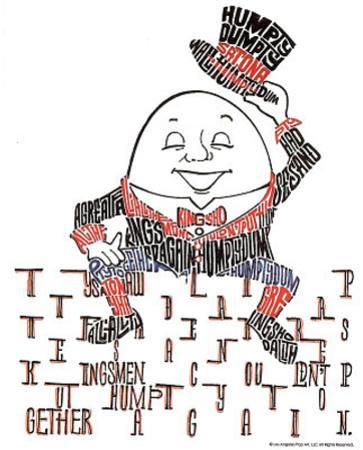 Humpty Dumpty Text Art Print Poster