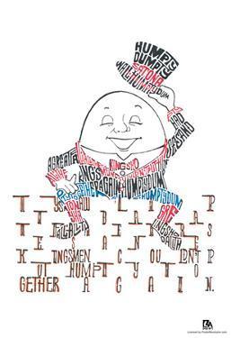 Humpty Dumpty Text Poster