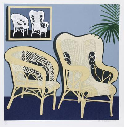 Two Chairs by Hunt Slonem