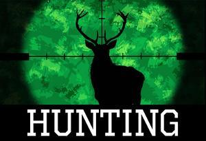Hunting Green Buck Poster Print