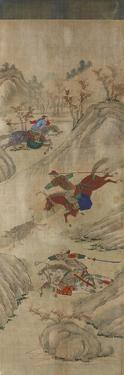 Hunting Scene (3 Riders and Boar)