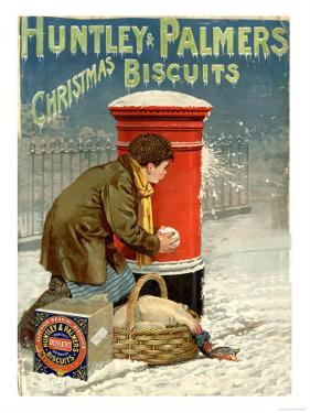 Huntley and Palmers, Biscuits Post Boxes, Snowballs, UK, 1890