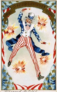Hurrah for the Fouth of July! Hurray! Postcard