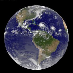 Hurricanes Irma, Jose and Katia, Satellite Image