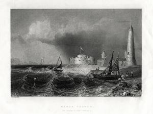 Hurst Castle, Portsmouth, 1860 by W Mossman