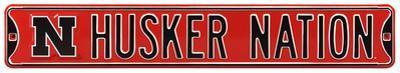"""Husker Nation """"N"""" Logo Steel Sign"""