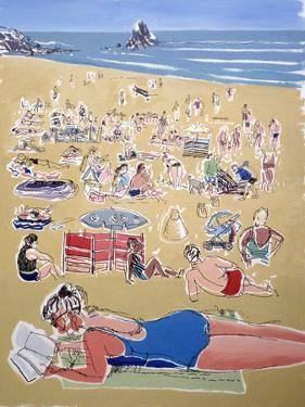 Bathers, Broadhaven Beach, Dyfed, 1995 by Huw S. Parsons